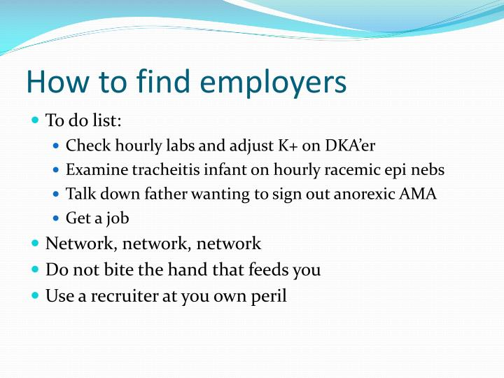 How to find employers