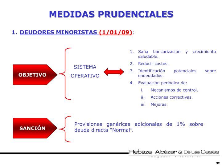 MEDIDAS PRUDENCIALES