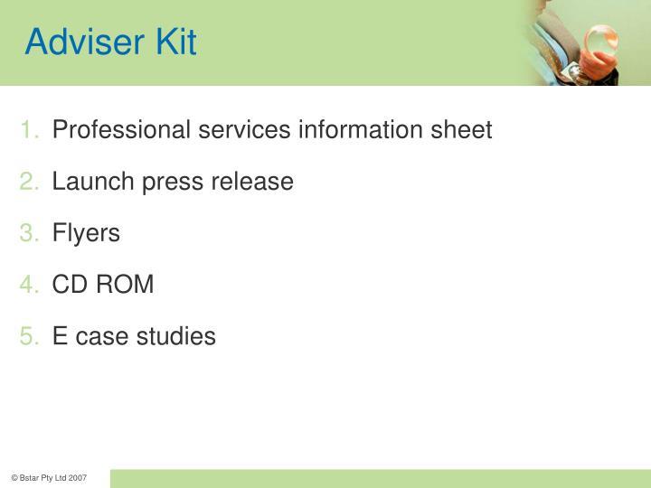 Adviser Kit