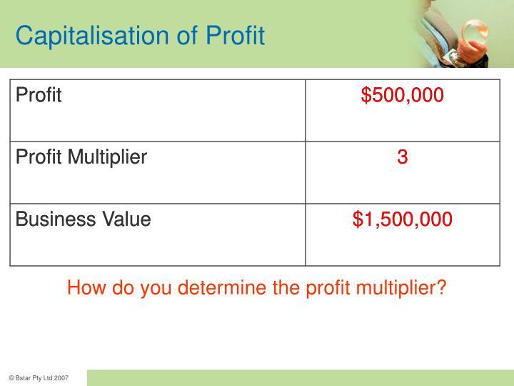 Capitalisation of Profit