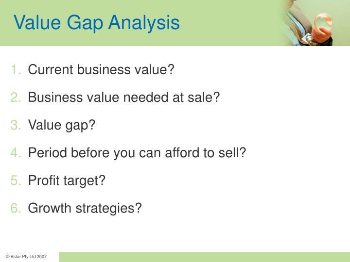 Value Gap Analysis