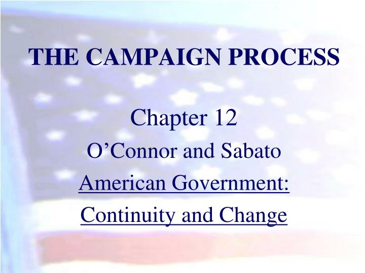 the campaign process n.