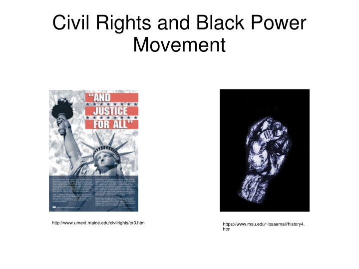 Civil rights and black power movement