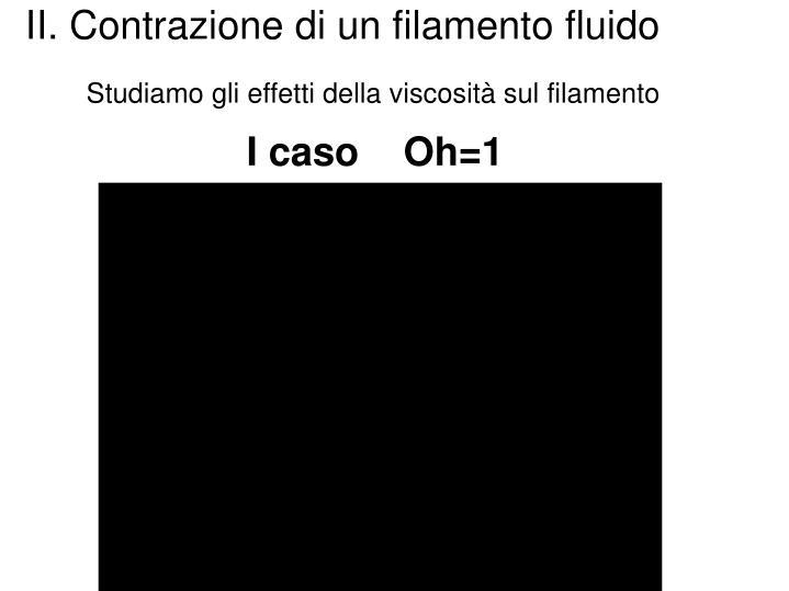 II. Contrazione di un filamento fluido