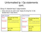 unformatted ip op statements cont