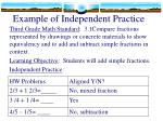 example of independent practice1
