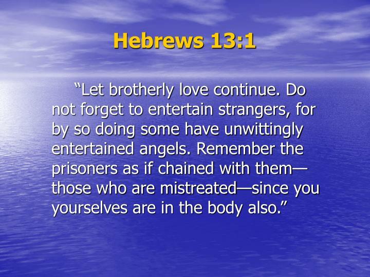 Hebrews 13 1
