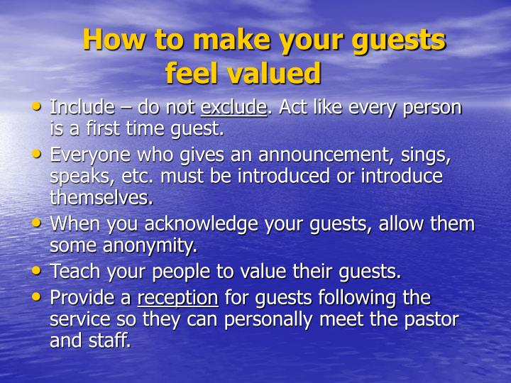 How to make your guests