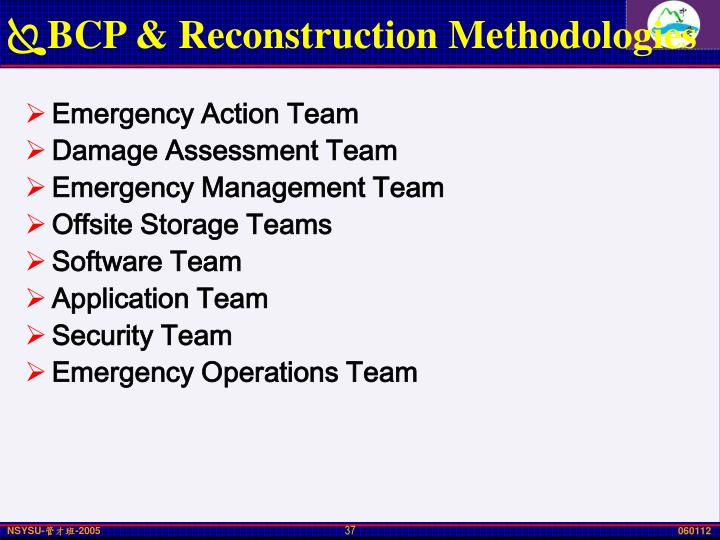 BCP & Reconstruction Methodologies