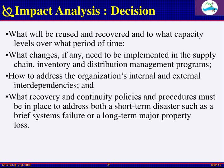 Impact Analysis : Decision