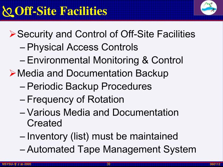 Off-Site Facilities