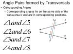 angle pairs formed by transversals2