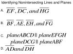 identifying nonintersecting lines and planes1