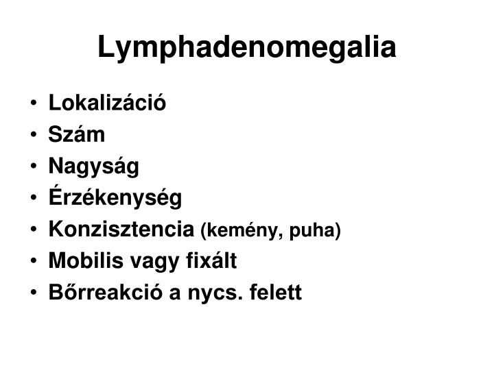 Lymphadenomegalia