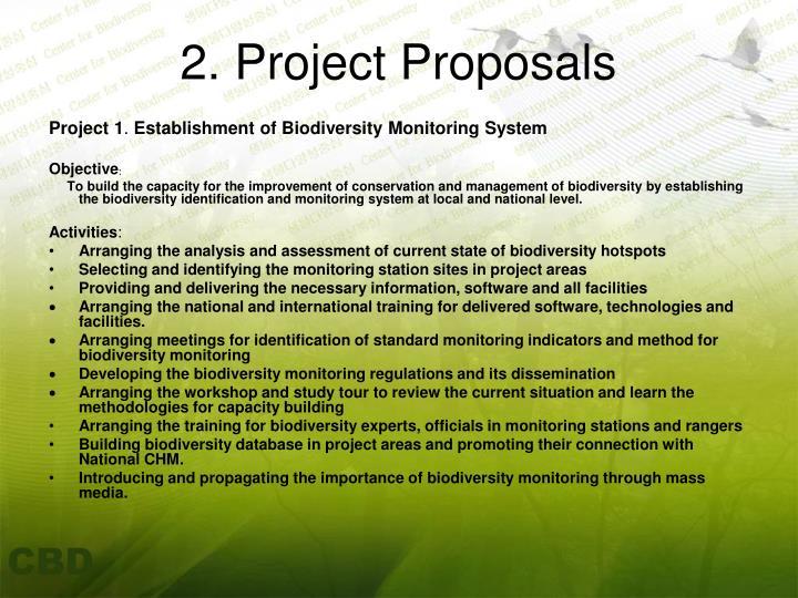 2. Project Proposals