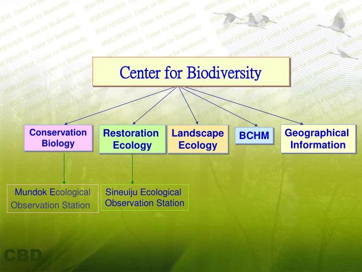 Center for biodiversity