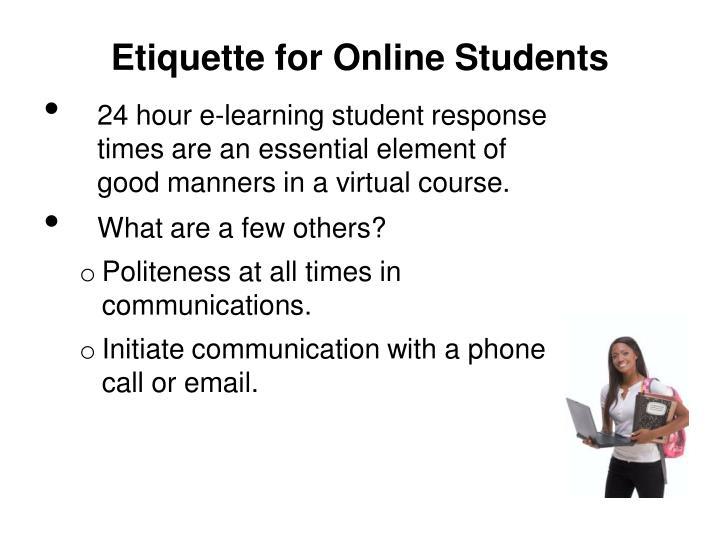 Etiquette for Online Students