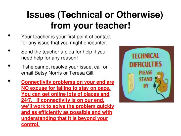 Issues (Technical or Otherwise)