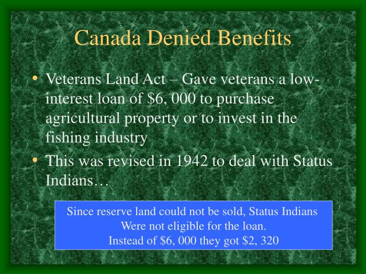 Canada Denied Benefits