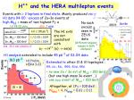 h and the hera multilepton events