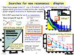 searches for new resonances dilepton