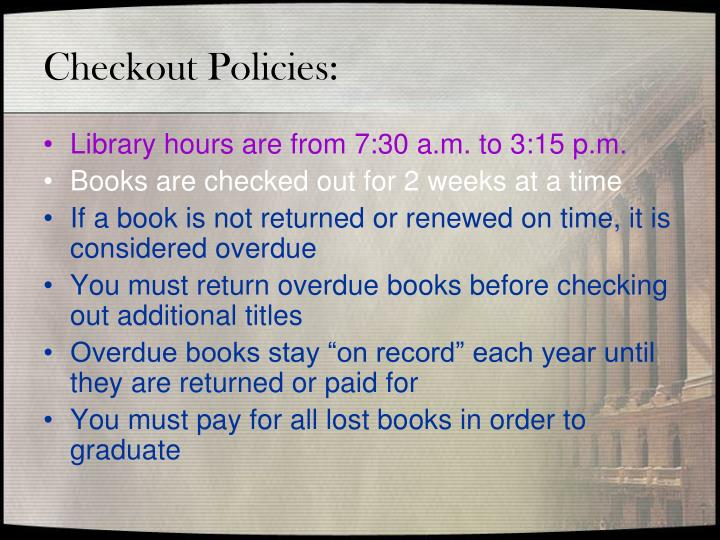 Checkout Policies: