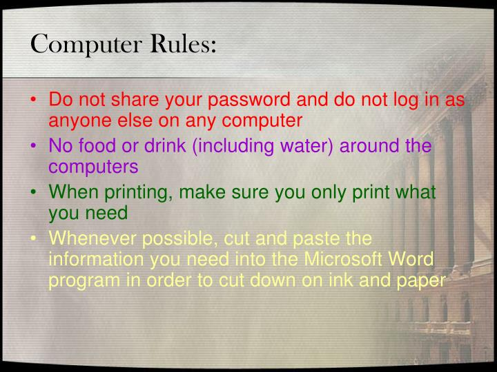 Computer Rules: