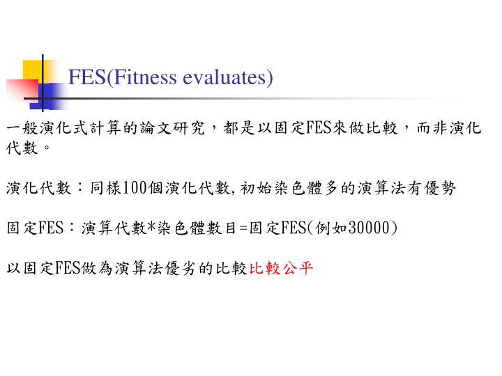 FES(Fitness evaluates)