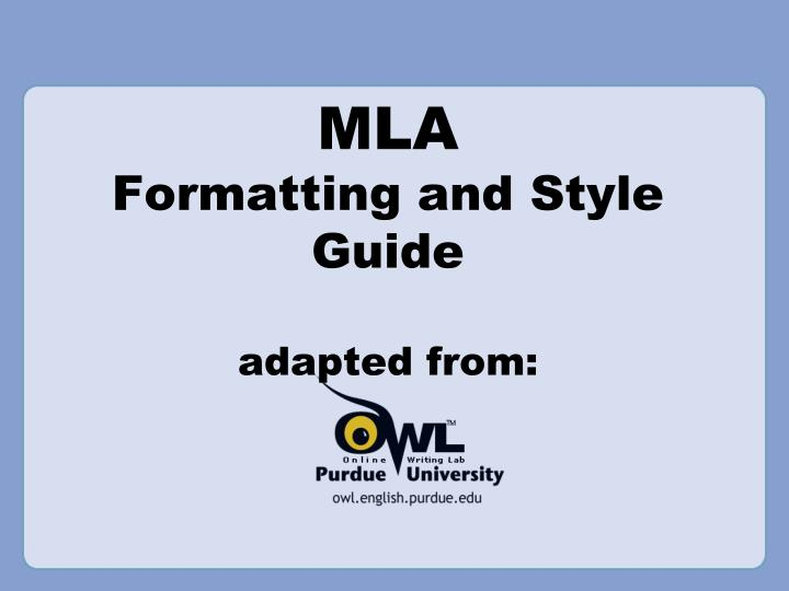 mla formatting and style guide adapted from n.