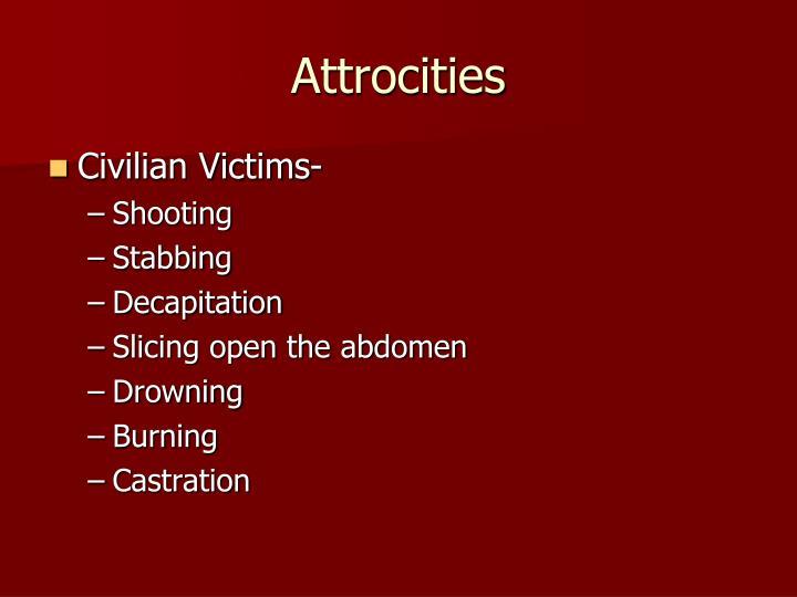 Attrocities