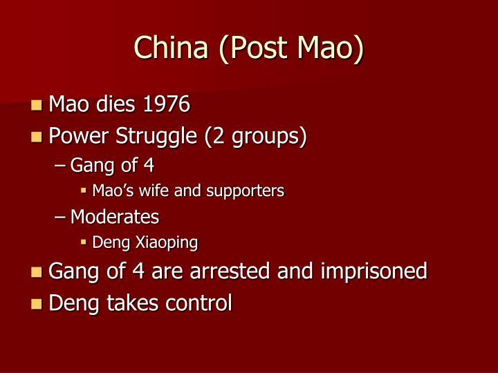 China (Post Mao)