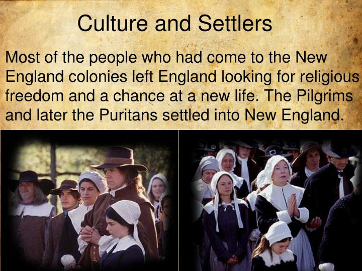 Culture and Settlers