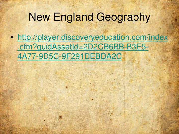New England Geography
