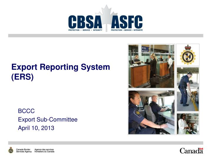 export reporting system ers n.