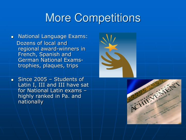 More Competitions