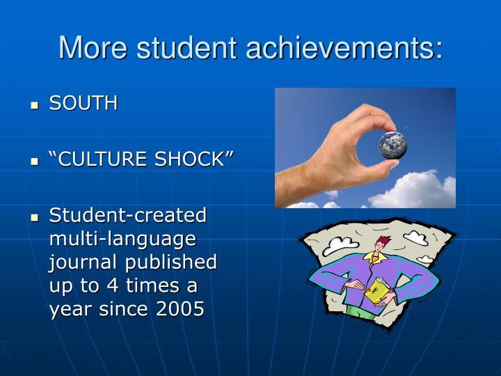 More student achievements: