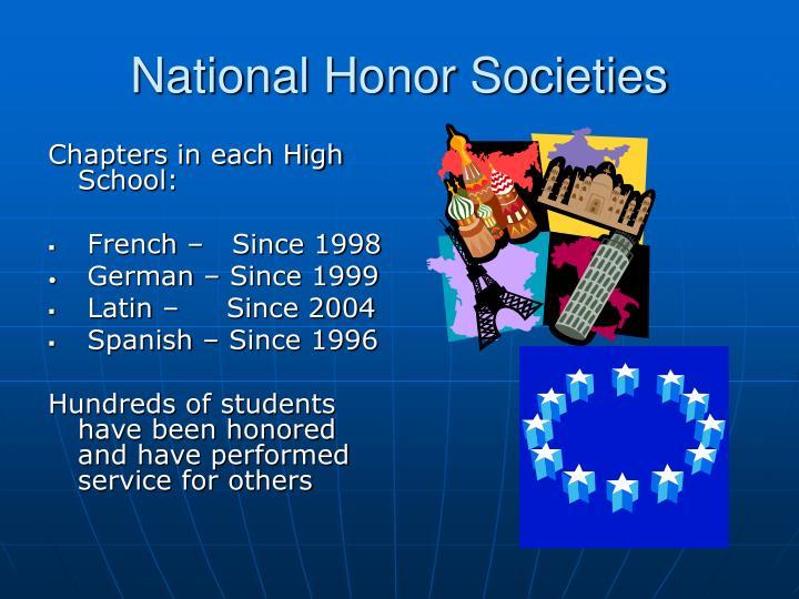 National Honor Societies