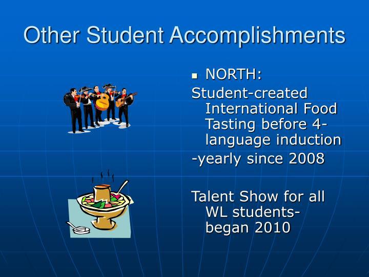Other Student Accomplishments