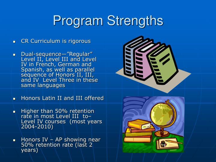 Program Strengths