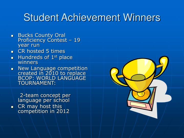 Student Achievement Winners