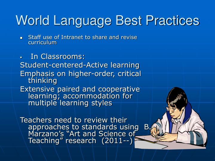 World Language Best Practices