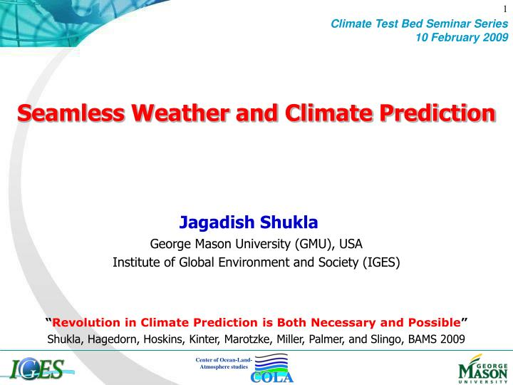 seamless weather and climate prediction n.