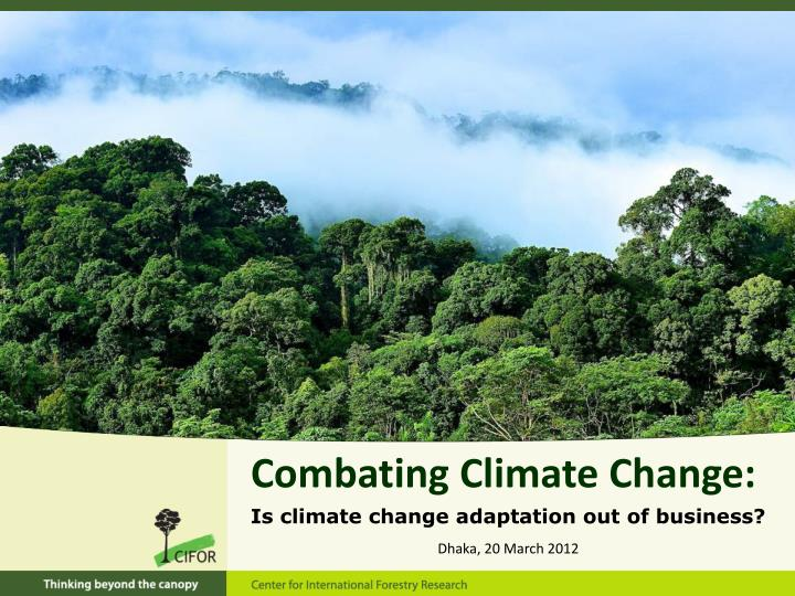 Combating Climate Change:
