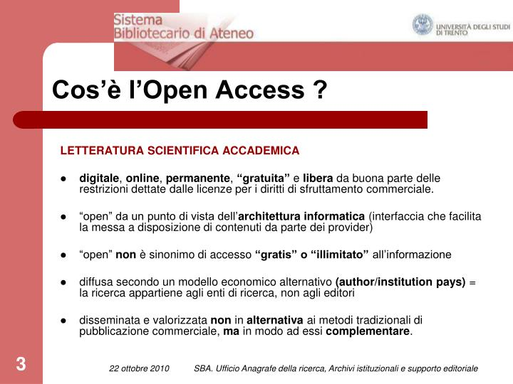 Cos l open access