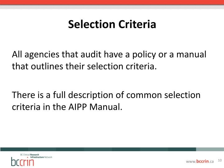 the selection criteria Selection criteria vary slightly depending on the subject area and whether applicants apply for a taught or research degree generally, applications are assessed against the following criteria: academic record an excellent academic record is essential.
