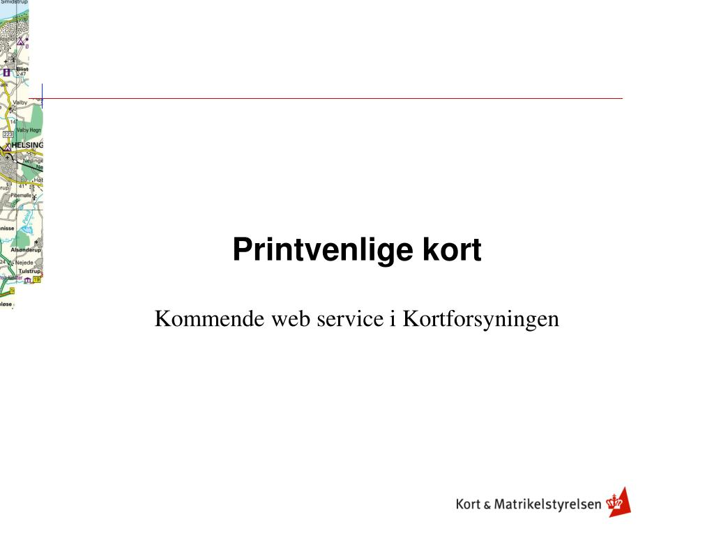 Ppt Printvenlige Kort Powerpoint Presentation Free Download