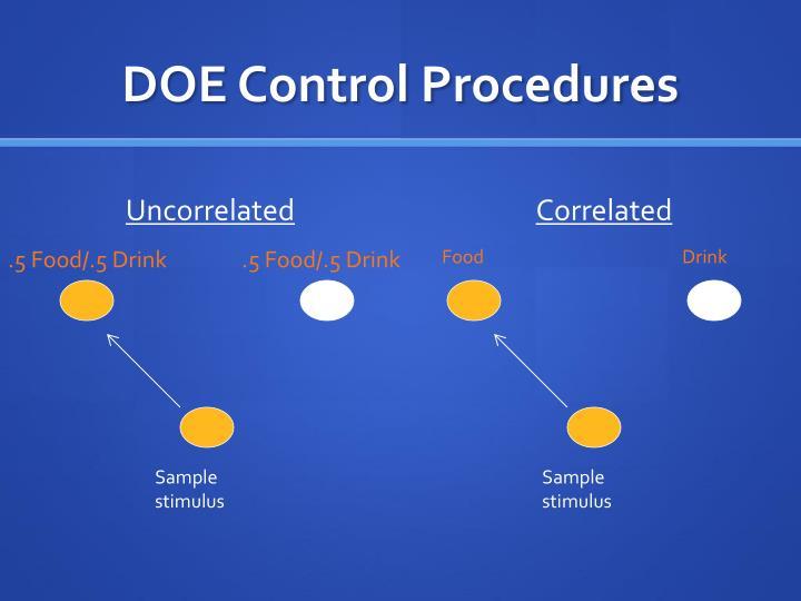 DOE Control Procedures