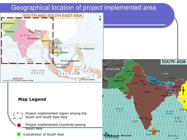 Geographical location of project implemented area