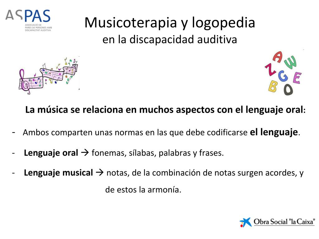 Ppt Musicoterapia Y Logopedia En La Discapacidad Auditiva