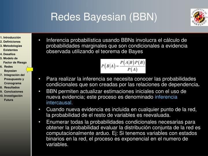 Redes Bayesian (BBN)